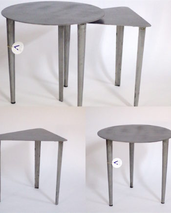 Steel plated tables
